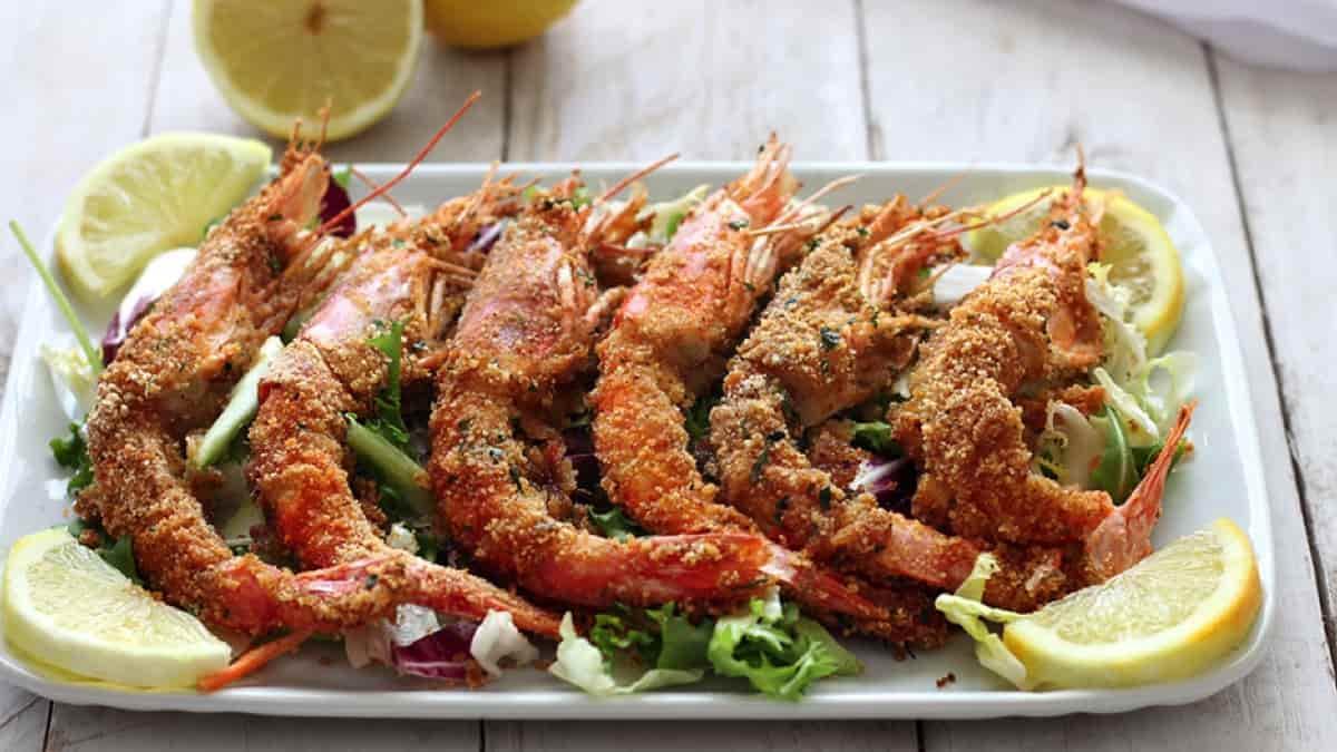 Crevettes gratinées au four