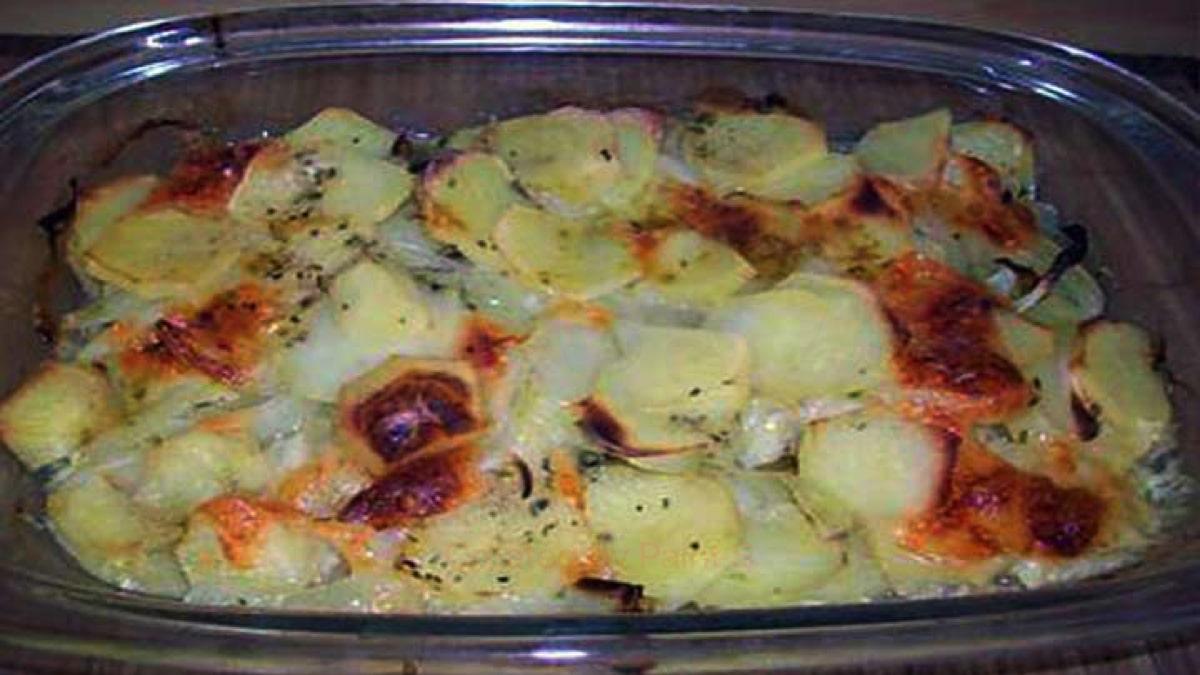 Gratin pommes de terre-mozzarella