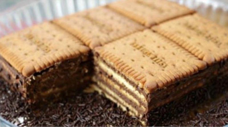 Le légendaire gâteau petit beurre et chocolat