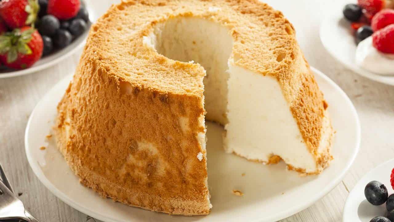 Gâteau des anges à la noix de coco sans sucre
