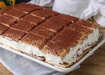 Gâteau de biscuits à la crème de mascarpone et au cacao