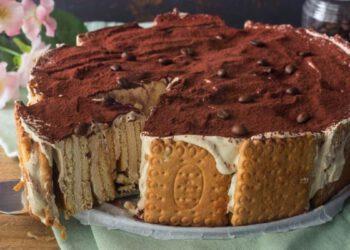Gâteau de biscuits au café sans cuisson rapide